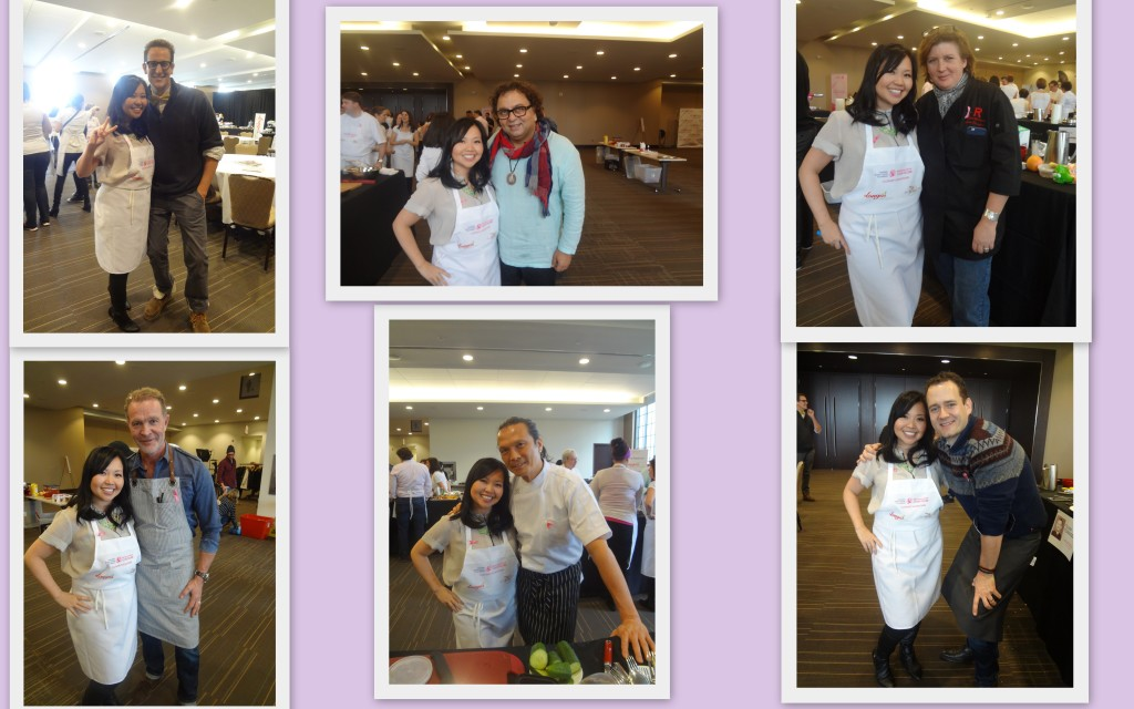 Pics with MC Noah Cappe and the celebrity Chefs