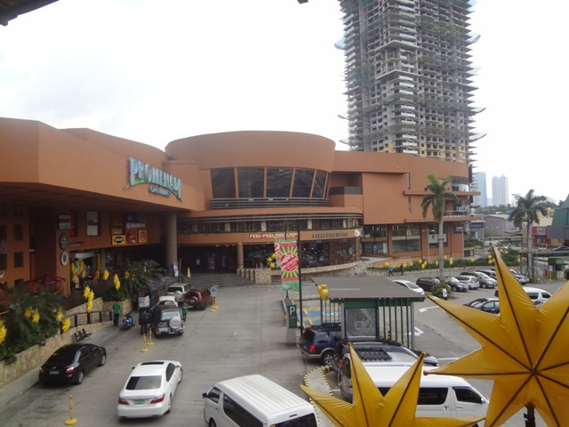 Movie theatre and plaza outside the mall