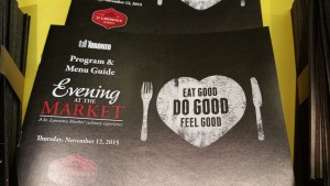 Evening at the Market Program and menu guide