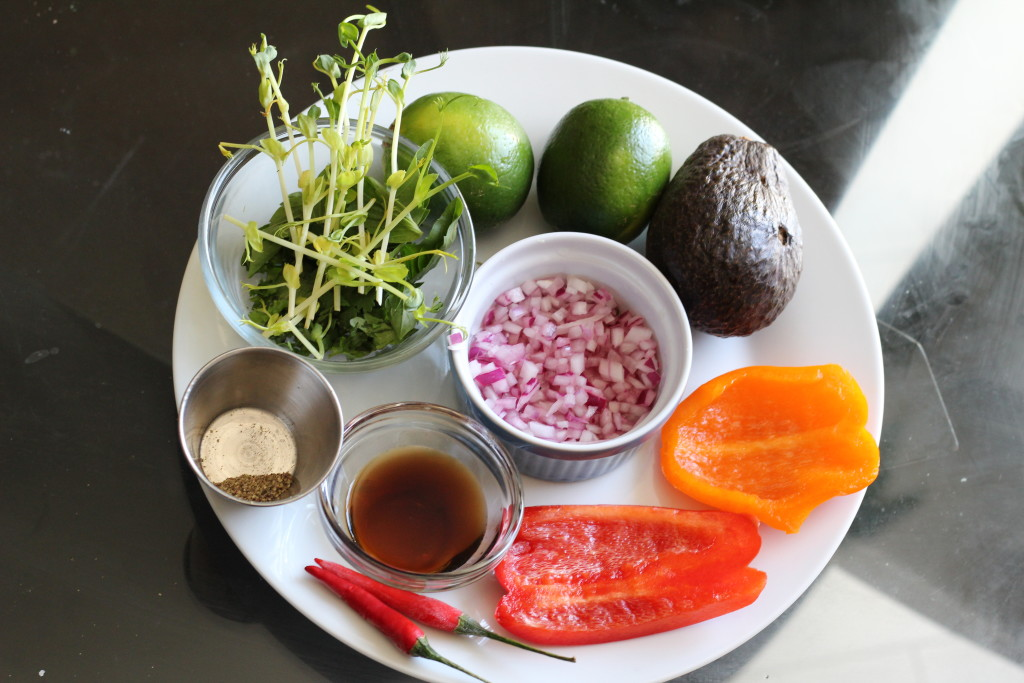 Civeche salad ingredients