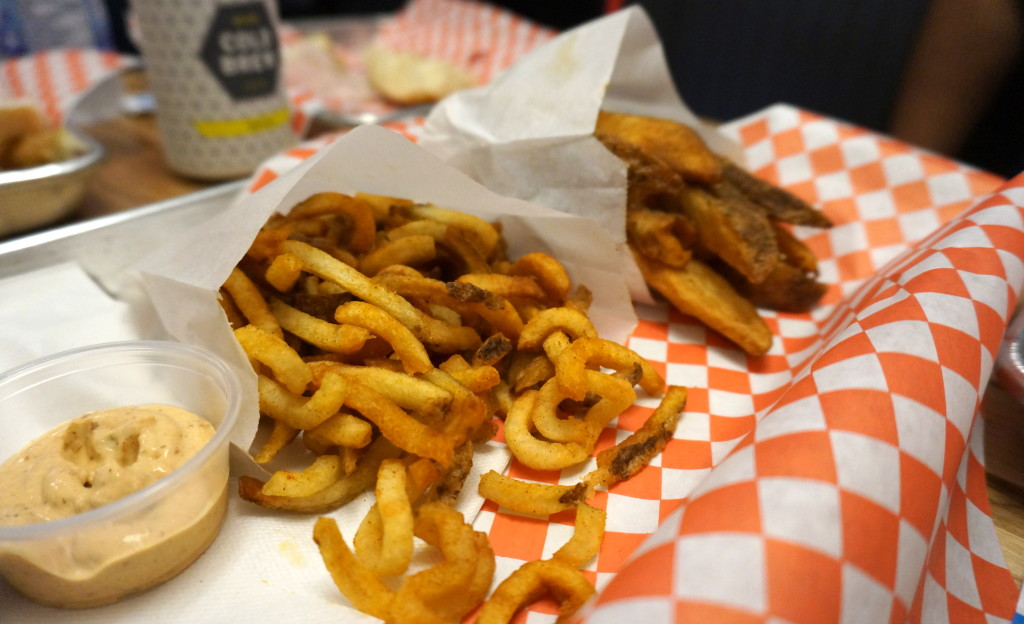 Curly Fries and Wedges with Chipotle Mayo