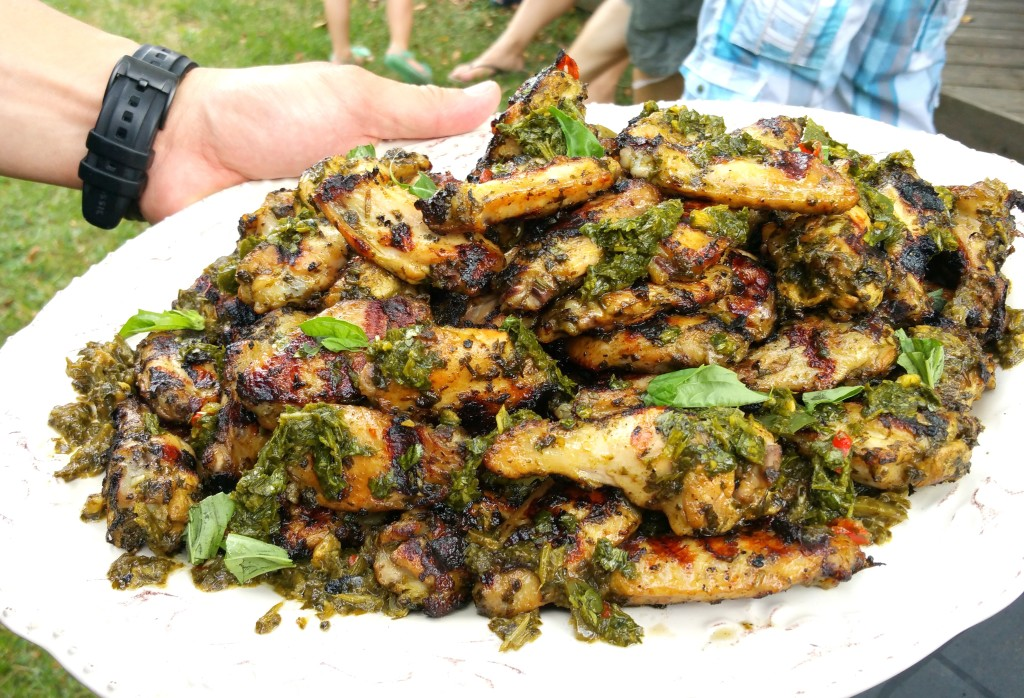 Spicy chimichurri wings