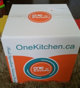 My meal was delivered by OneKitchen.ca