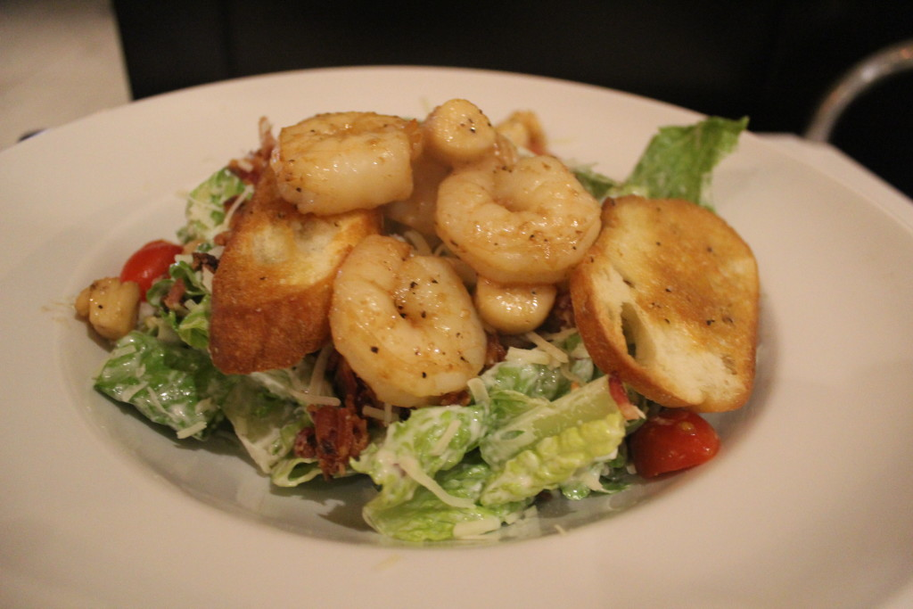 Scallop and Caesar Salad