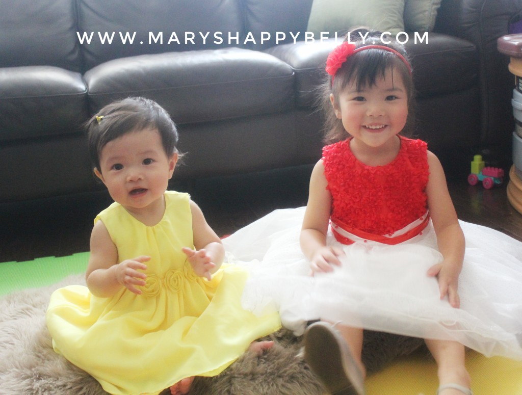 My beautiful daughters, Livvy and Issy #maryshappybelly