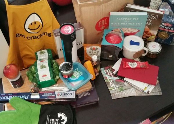 Thank you for the fabulous swag bag!