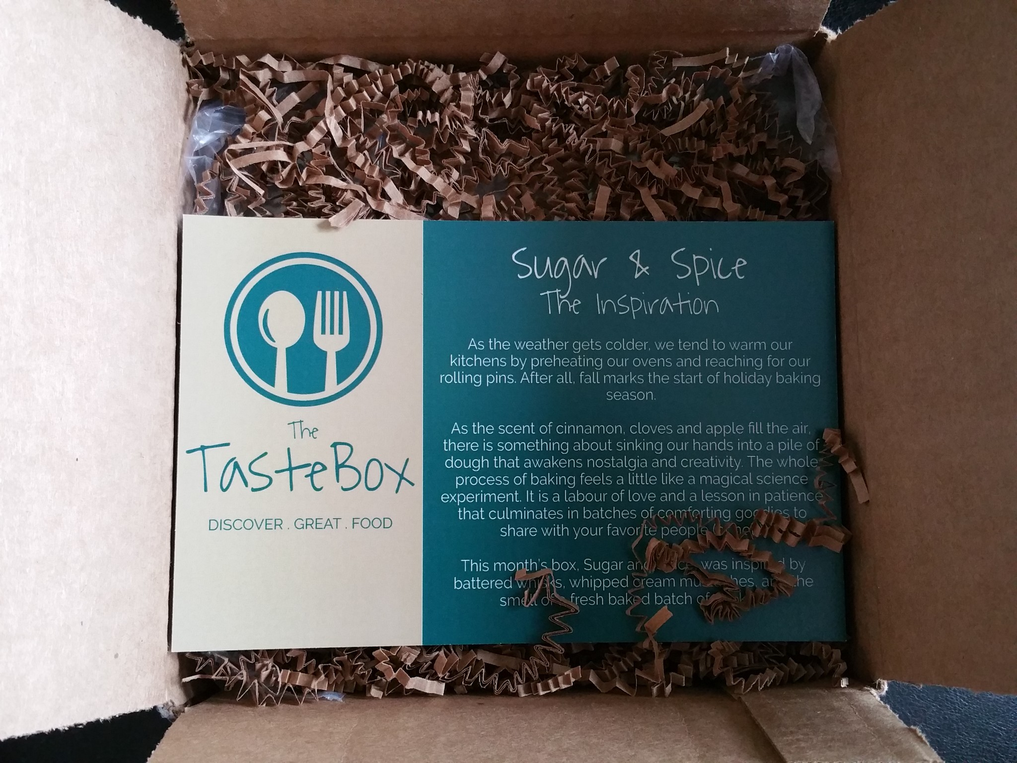 Introducing The Taste Box, featuring chef-inspired ingredients ...