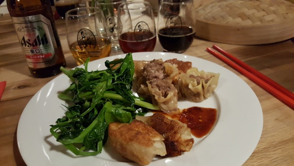 """Aphrodite Cooks""""Beer and Food – Dumplings for Duos – Couples Cooking Class"""""""