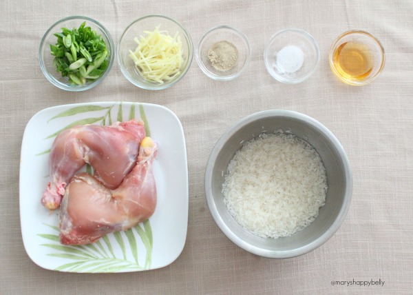 Ingredients for the IP chicken congee
