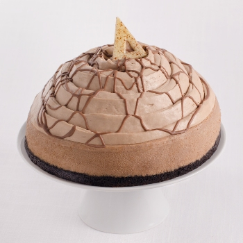 La Rocca's Creative Cakes Milk Chocolate Cheesecake . Photo credit: La Rocca Creative Cakes